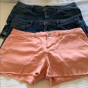 3 pairs of LC shorts size 12